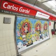 Carlos Gardel Subway Station in Buenos Aires, Argentina. — Stock Photo