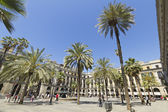 Tourist on Plaza Real in Barcelona, Spain — Stock Photo