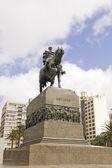 Equestrian statue of General Artigas in Montevideo, Uruguay — Stock Photo