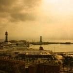 Port of Barcelona. Sunset — Stock Photo #2941810