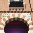 Arch neo-Mudejar style — Stock Photo