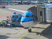 Schiphol Airport, Amsterdam, Netherlands. — Stock Photo
