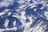Andean mountains, Aerial photo — Stock Photo