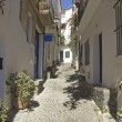 Cadaques, Mediterranean street — Stock Photo