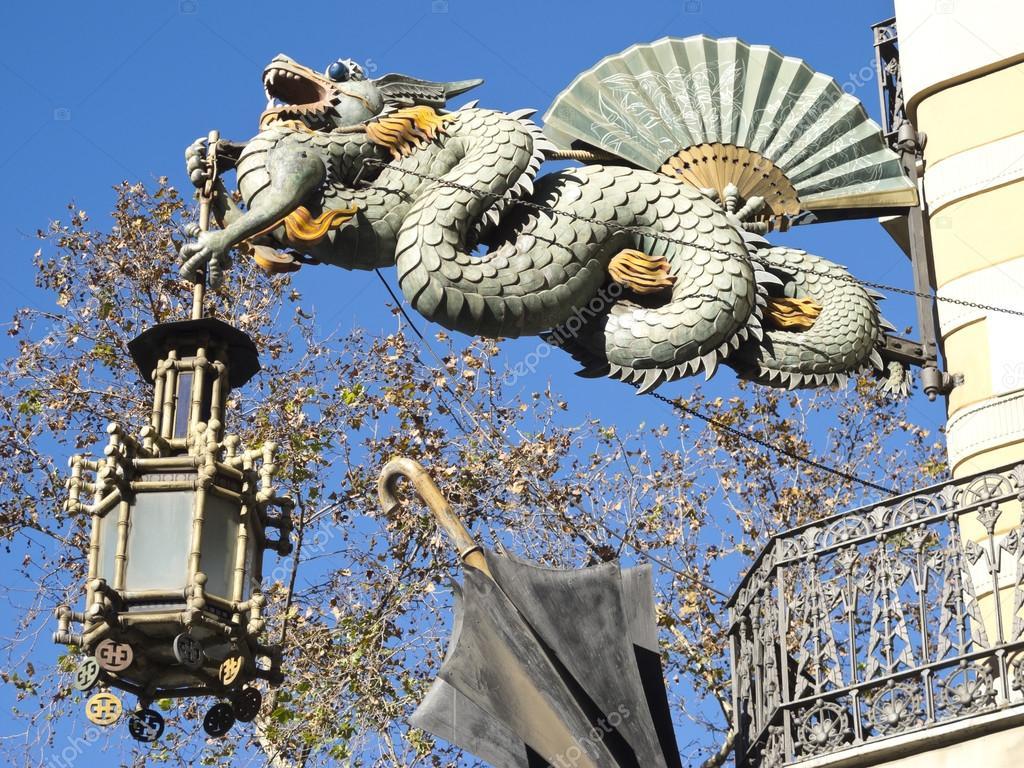 Dragon chinois dans las ramblas barcelone photographie toniflap 46944969 - Photo dragon chinois ...