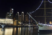 Puerto Madero by night, Buenos Aires — Stock Photo