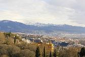 Granada y sierra nevada — Foto de Stock