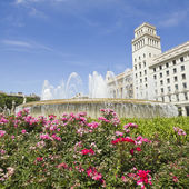 Barcelona: the exact center of the city — Stock Photo