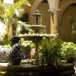 Typical courtyard. Cuba — Stock Photo #7124951