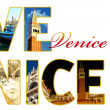 Letters with photos of Venice, Italy - Photo
