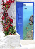 Greek traditional architecture in Santorini island, Greece — Stock Photo