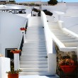 Постер, плакат: Close up of traditional village of Thira at Santorini island in