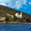 Greek traditional chapel in Ios island, Cyclades, Greece - Stock Photo