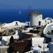Traditional Greek architecture of Oia village on Santorini islan — Stock Photo #13235852
