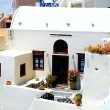 Traditional Greek architecture of Oia village on Santorini islan - Stockfoto