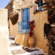 Traditional Greek architecture of Oia village on Santorini islan - Lizenzfreies Foto