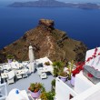 Beautiful cafeteriat beach, on Santorini island, Greece — Stock Photo #13238014