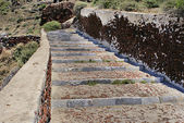 Long Outdoor Stone Steps on Santorini island, Greece — Stock Photo