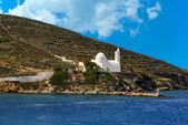 Greek traditional chapel in Ios island, Cyclades, Greece — Stock Photo