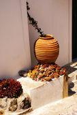 Greek traditional house located at Santorini island — Stock Photo