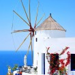 Windmill in Oivillage on Santorini island, Greece — Stock Photo #13240603