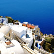 Stock Photo: Traditional Greek architecture of Oia village on Santorini islan