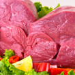 Fresh beef on board ready to cook — Stock Photo