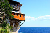 Monastery Xenofontos on Mount Athos, Chalkidiki, Greece — 图库照片