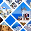 Set of summer photos in Santorini island, Greece — Stock Photo #13498917