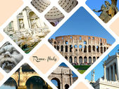 Set of historic places of Rome city, Italy — Stock Photo