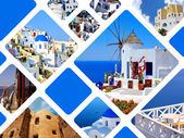 Set of summer photos in Santorini island, Greece — Foto de Stock