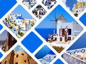 Set of summer photos in Santorini island, Greece — Stock Photo