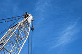 Derrick. Oil well drilling — Stock Photo