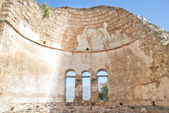 Saint Achilleios old Byzantine church ruins at lake Prespa in Gr — Stock Photo