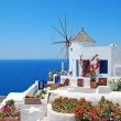 Traditional architecture of Oia village at Santorini island in G — Stock Photo #14443483