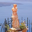Aphrodite statutue in Santorini island, Greece - Stock Photo
