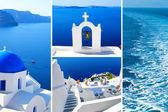 Collage de fotos de verano en la isla de santorini, grecia — Foto de Stock