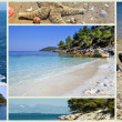 Collage of beautiful Greek beaches — Stock Photo #16037309