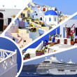 Collage of summer photos in Santorini island, Greece — Stock Photo #16037847