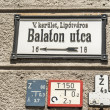 Famous street signs from Budapest - Stock Photo