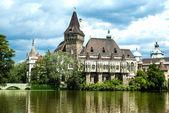 The Vajdahunyad castle, Budapest main city park — Stock Photo