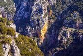 Vikos famoso cañón en epirus, grecia — Foto de Stock
