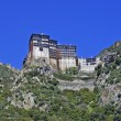 Monastery of Simonos Petra at Mount Athos in Greece - Foto Stock