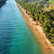 Aerial view of Potidea sea Channel, Chalkidiki, Greece - Stock Photo