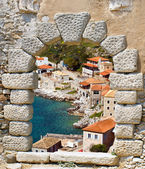 Limeni traditional fishing village at Peloponnese, Mani, Greece — Stock Photo