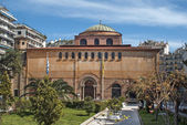 Byzantine orthodox church of God's holy Sophia at Thessaloniki, — 图库照片