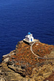 Traditional small chapel on Sifnos island, Greece — Stock Photo
