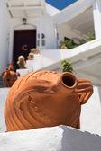 Traditionelle griechische dekoration auf sifnos insel, griechenland — Stockfoto