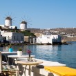 Stock Photo: Panoramic view of little Venice on Mykonos Island, Greece