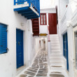 Traditional greek house on Mykonos island, Greece — Stock Photo #27585211
